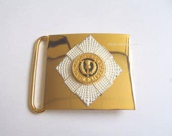 Scots Guards Belt Buckle/Plate - Vintage - For Collectors - E347
