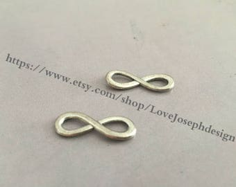 wholesale 20 Pieces /Lot Antique Silver Plated 8mmx24mm Infinity 8 Charms Link Connector(#0368)