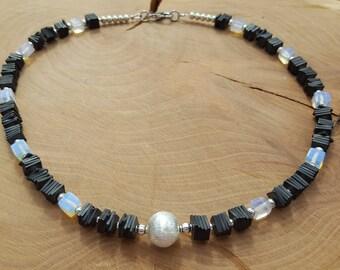 Dark grey Hematite necklace
