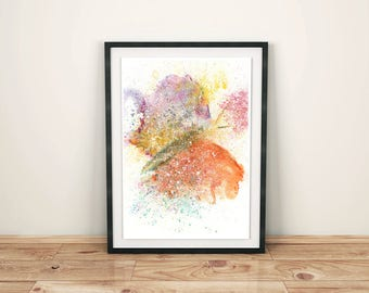 Butterfly Watercolor, Abstract Butterfly, Butterfly Painting, Contemporary Art, Watercolor Butterfly, Butterfly Wall Art, Butterfly Art