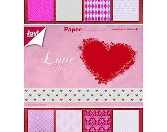 LOVE block of 32 paper 15 x 21 cm JOY CRAFTS