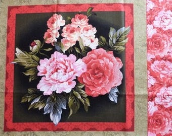 Fabric patchwork/decorating 1 BOUQUET of flowers sticker
