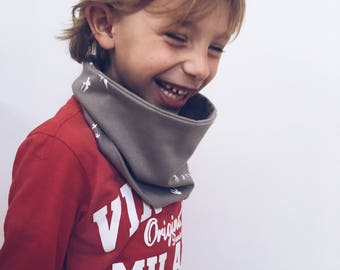 Scarf - infinity scarf in gray - winter accessory - loop scarf - kids scarf - circle scarf - jongens sjaal - kinder sjaal - colsjaal