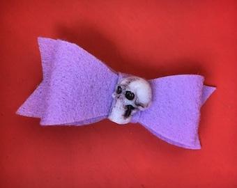 Skull Hair Bow