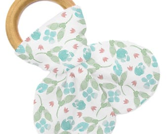 Non Personalized Teether - Tulip Floral