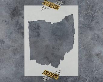 Ohio Stencil - Hand Drawn Reusable Mylar Stencil Template