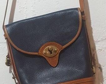 Vintage Dooney & Bourke Calgary Spectator Pebble Leather Purse