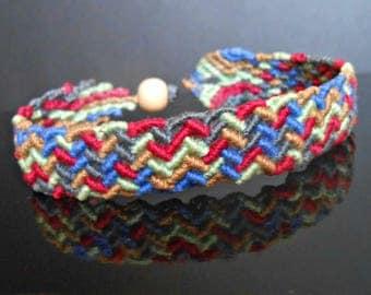 Bracelet 5 colors woven macrame