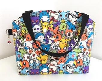 Medium Tote Bag, Project Bag, Knitting Bag, Knitting Project Bag, Poké Project Bag