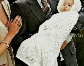christening robe, cape,  baby, knitting pattern, pdf, digital download