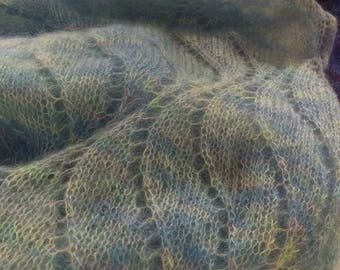 Hand Dyed Yarn Kid Mohair Silk, Lace 50g - Sky