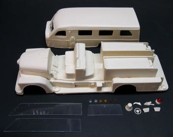 1/25 scale model resin 1958 Seagrave Sedan Safety Pumper fire truck conversion kit