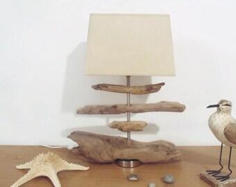 lampe en bois flotté - au choix - modèle unique