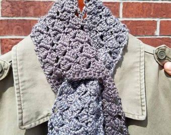Sparkling Sidesaddle Keyhole Scarflet in Overcast Crochet