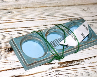 "Handmade Rectangular Photo Picture Frame 3 photos ""Marseille"" Wooden Photo Picture 3 photos"