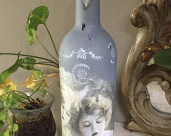 Angel CORAL decorated bottle
