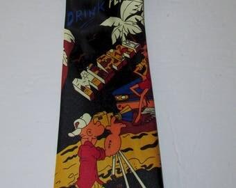 """superbe mercedes high fashion pepsi cola  multicolore silk  neck tie/superbe cravate de soie multicolore mercedes  pepsi cola   56"""" X 4"""""""