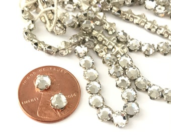 Vintage Clear Glass Sew On Rhinestones 5mm (20)