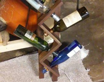 Black Walnut Wine Rack