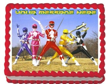 Mighty Morphin Power Rangers Classic Attack Edible Cake Topper