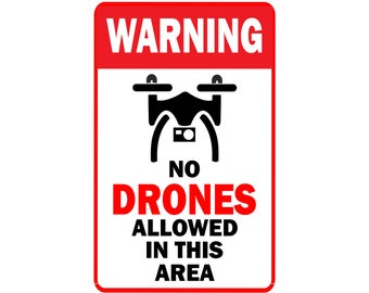 Drone Warning Sign