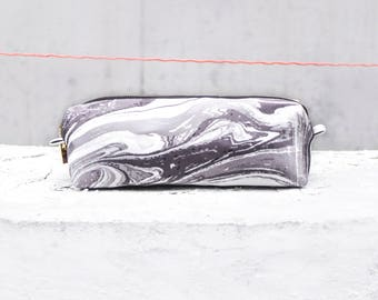 Marble pencil case / water marble / pencil pouch / Marble pencil bag / Marmor bag / back to school / makeup pouch / minimal style