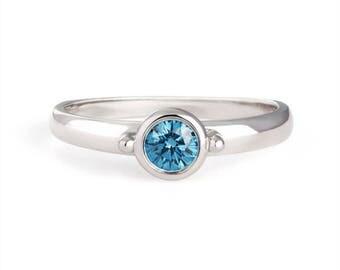18k white gold diamond stackable ring