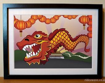 Chinese Dragon Print