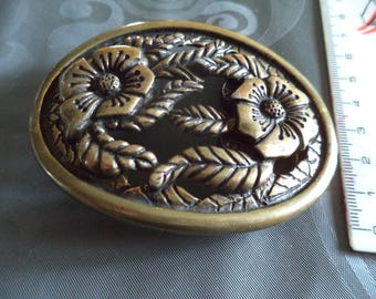 belt buckle in metal bronze wide & 4 cm new