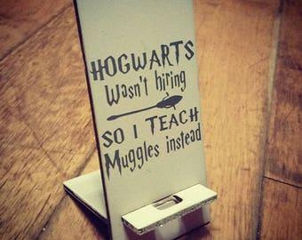 "Teacher gift ""Hogwarts"" phone stand"