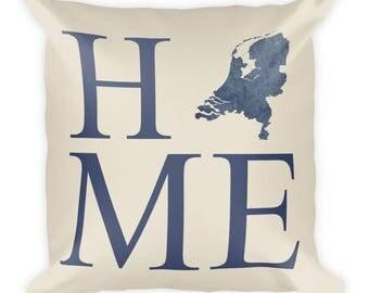 Netherlands Pillow, Netherlands Gifts, Dutch Decor, Netherlands Home, Netherlands Throw Pillow, Netherlands Art, Netherlands Map, Cushion