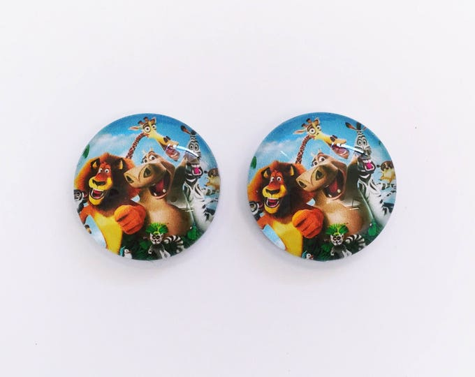 The 'Madagascar' Glass Earring Studs