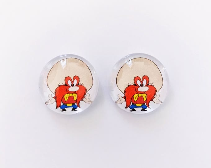 The 'Yosemite Sam' Glass Earring Studs