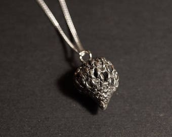 sterling silver seed pod from the Australian casuarina tree. sterling50cmtrace chain
