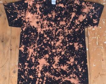 Bleached Plain Black T-Shirt