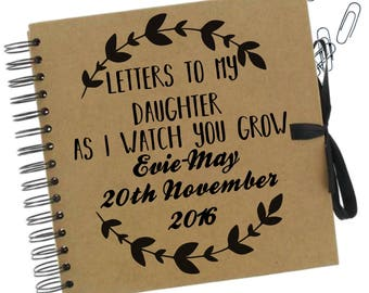 Letters to my daughter journal | Letters to my son journal | New baby journal | New baby keepsake | Baby Journal