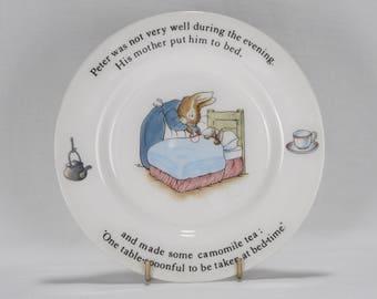 Vintage Wedgwood China Beatrix Potter Peter Rabbit Child's Plate