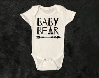 Baby bear, family bear matching shirts