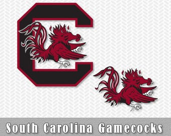 South Carolina Gamecocks Layered SVG Dxf Logo Vector File Silhouette Studio Cameo Cricut Design space Template Stencil Vinyl Decal Tshirt