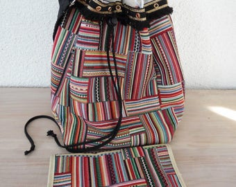 Ethnic chic fringed bag