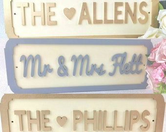 Small Freestanding Street Sign Wedding Top Table Design