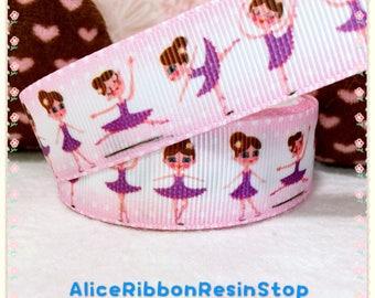 "3 yards 7/8"" Ballerina ribbon, Ballet ribbon, Ballet shoe ribbon, Ballerina ballet hair bow ribbon, dance girl ribbon, craft ribbon, ribbon"