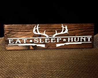 Gone Hunting Sign, Camping Rules, Lock and Load, Eat Sleep Hunt Sign, Hunting Sign, Gift For Hunter