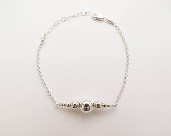 Silver Wish Bracelet, Wish Bracelet, Make a Wish, Dainty Bracelet, Layering Bracelet, Delicate Bracelet, Gift for Girlfriend, Wife Gift