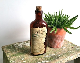 Antique french syrup bottle