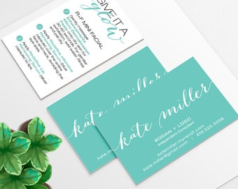 Rodan and Fields Business Card and Mini Facial Instruction Cards for consultants | DIGITAL FILE  *Intensive & Night Renewing Serum Options*
