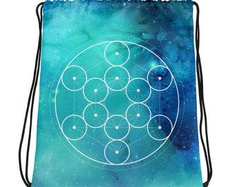Sacred Geometry universe yoga bag Drawstring bag for on the go yoga