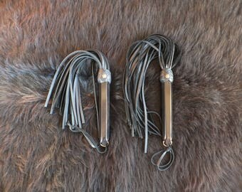 "Beginners' Exploratorium - Cowhide Floggers - Falls 1/4"" wide"