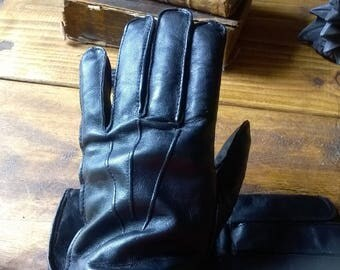 Classic Gothic Victorian Steampunk Industrial Leather Gloves Cosplay Vintage Style