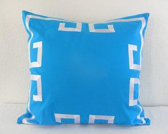 Greek Key Euro Pillow Grosgrain Applique Trim Sham/Cover